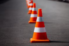 Zabezpieczenie terenu prac drogowych